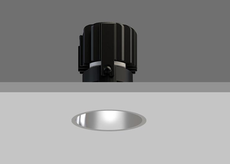 Minitrim 62 Wallwasher Satin Silver